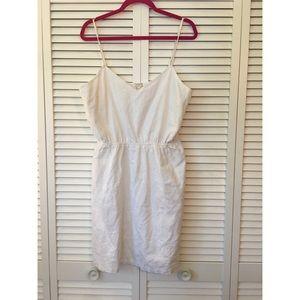 J.CREW   white linen dress